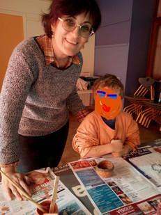Avec un enfant de maternelle GS