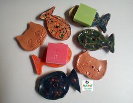 Porte savons fabriqués en EHPAD