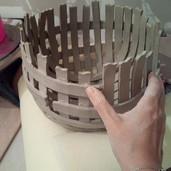 Fabrication d'un plat à lanières