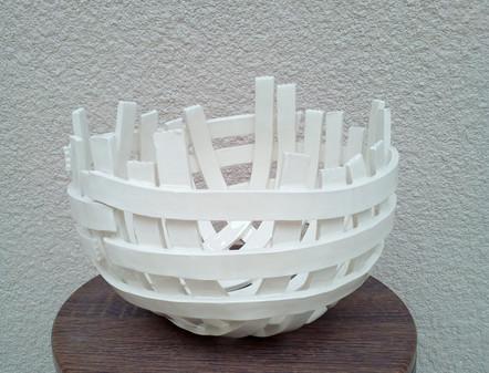 Plat lanières blanc Isavé