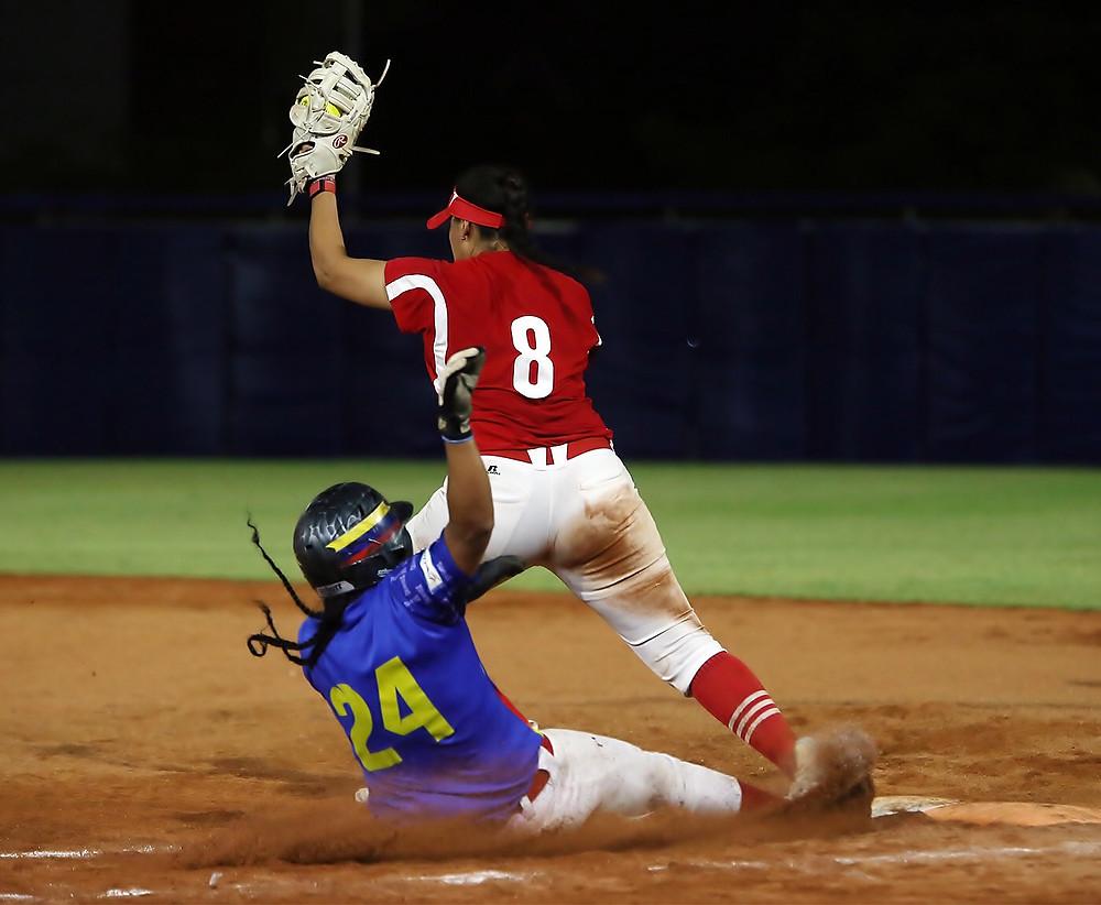 Mexico vs Colombia softbol femenil - Juegos Centroamericanos 2018
