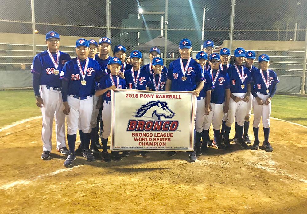 Liga Olmeca es subcampeón de la Serie Mundial Bronco de Pony Baseball
