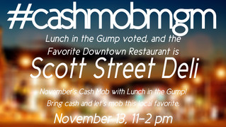 November #CashMobMGM with Lunch in the Gump!