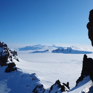 Öræfajökull og Mávabyggðir úr Vesturbjörgum