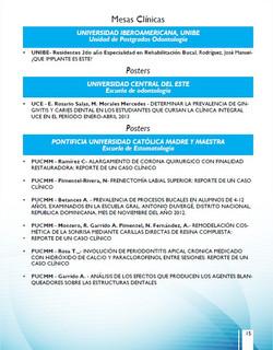 Programa Cientifico CONAOD XX