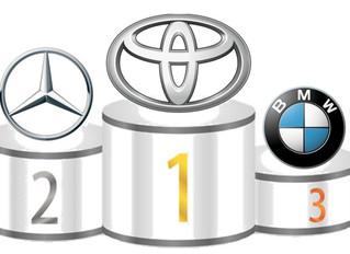 Toyota es #1. Mercedes #2, Aventaja a BMW por Primera Vez