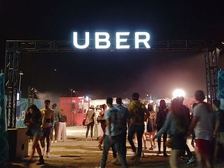 Uber x Coachella Dimensional Sign