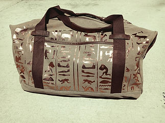 Hieroglyphic Duffle  Khaki.jpg