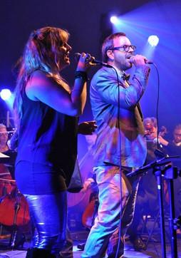 Élise Béchard et Pascal Caron