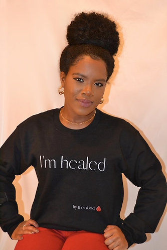 I'm Healed sweatshirt - Black