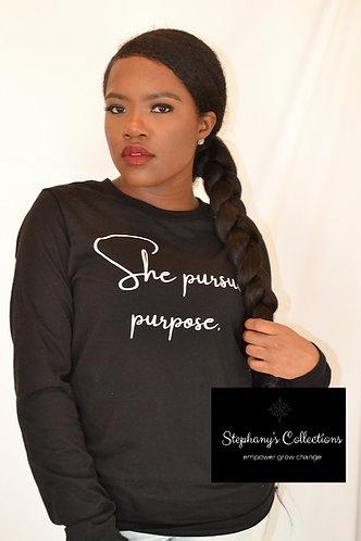 She Pursues Purpose - Black