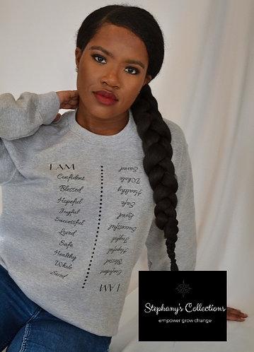 I AM - grey sweatshirt
