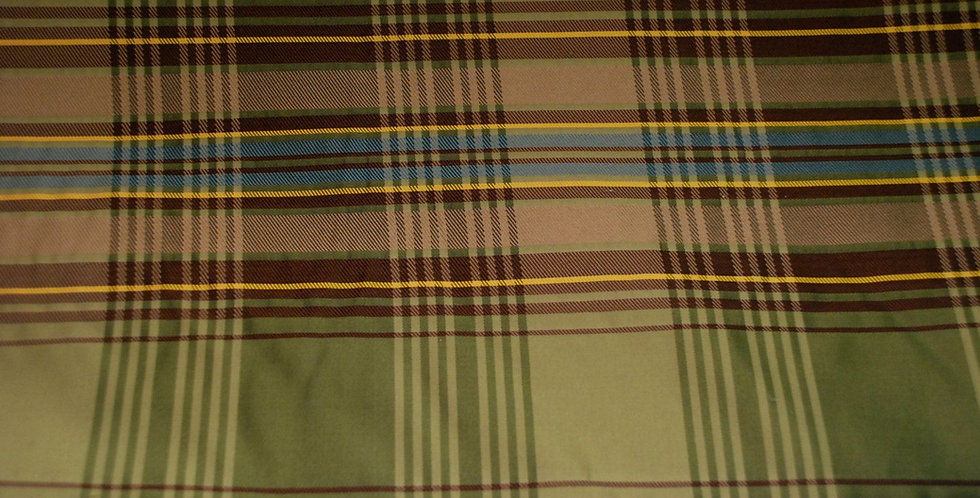 Plaid Silk Fabric