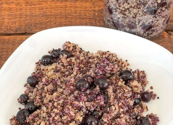 roasted blueberry quinoa for breakfast