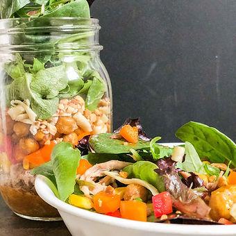 chipotle-honey pork salad