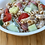 greek yogurt ranch pasta salad with cucumbers, tomatoes and Parmesan cheese