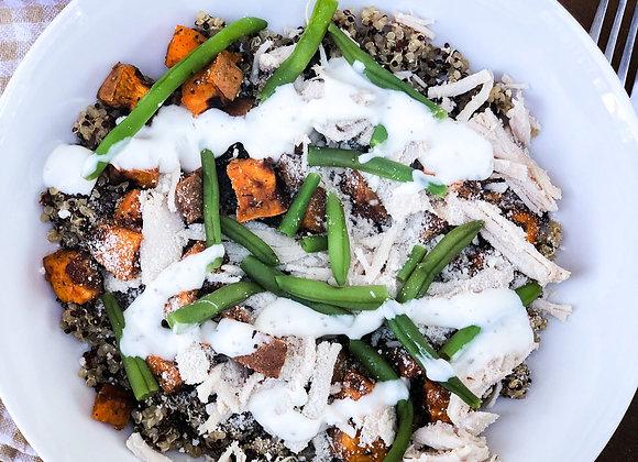 ranch turkey quinoa bowl