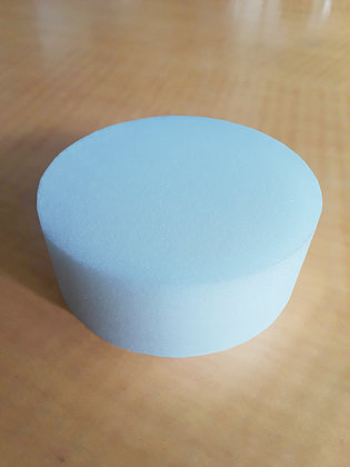 LTBL 3 inch White Standard Firm Foam Hook and Loop Polishing Pad