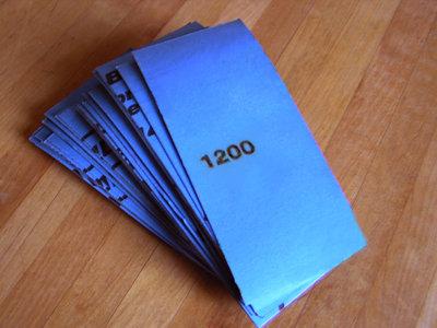 LTBL PRO #1200 Sandpaper  (50- 2 inch x 5.5 inch strips)
