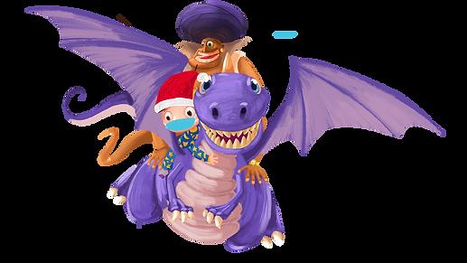 Boy, Genie, Dragon christmas.png