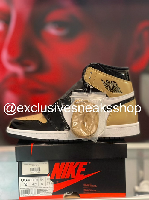 "Air Jordan 1 Retro ""Patent Gold Toe """