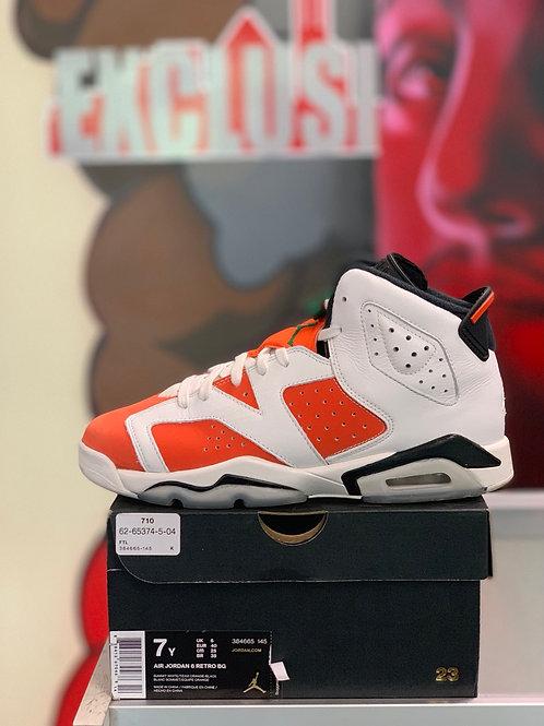 """Air Jordan 6 Retro """"Gatorade Like Mike White"""" Gs"""