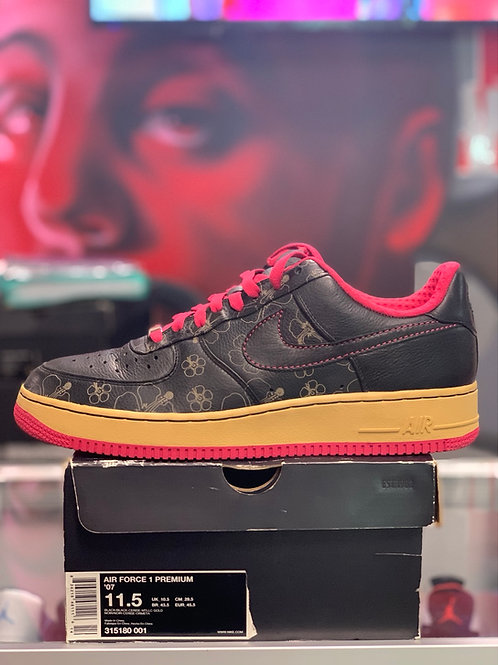 "Nike Air Force One Low PRM ""Black Floral Pink"""