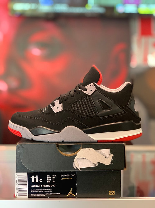"Air Jordan 4 Retro ""Bred"" (PS)"