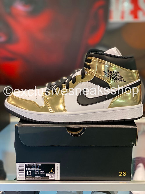 "Air Jordan 1 Retro Mid ""Metallic Gold"""