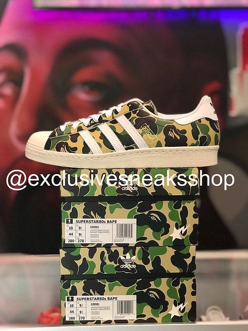"Adidas Superstar ""Bape ABC Camo Green"""