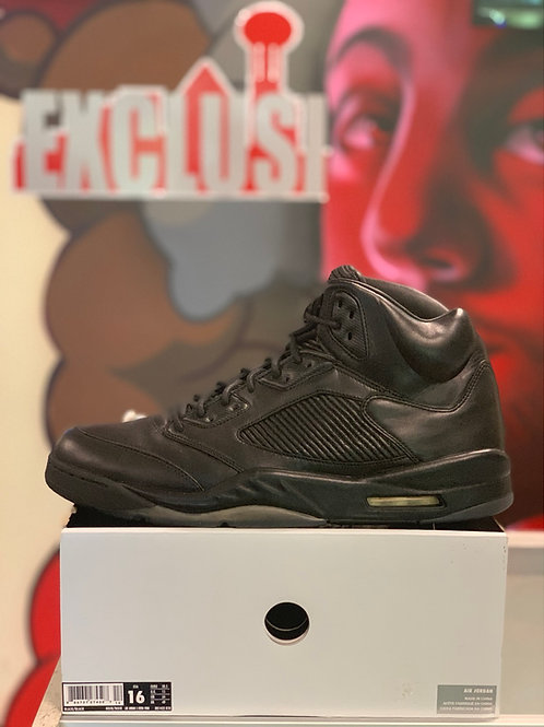"Air Jordan 5 Retro Premium ""Triple Black"""