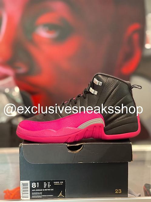 "Air Jordan 12 Retro ""Black Deadly Pink"""