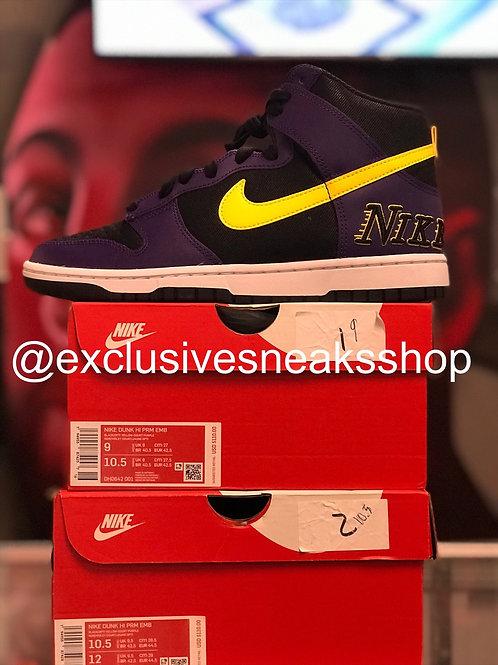 "Nike Dunk High EMB ""Lakers"""