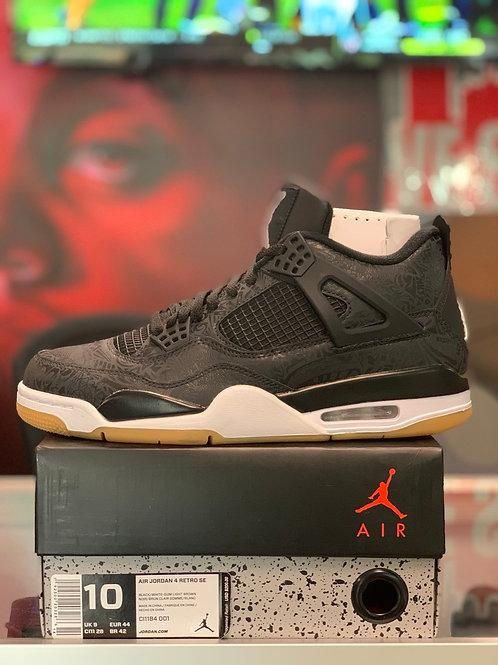 """Air Jordan 4 Retro """"Laser Black Gum"""""""