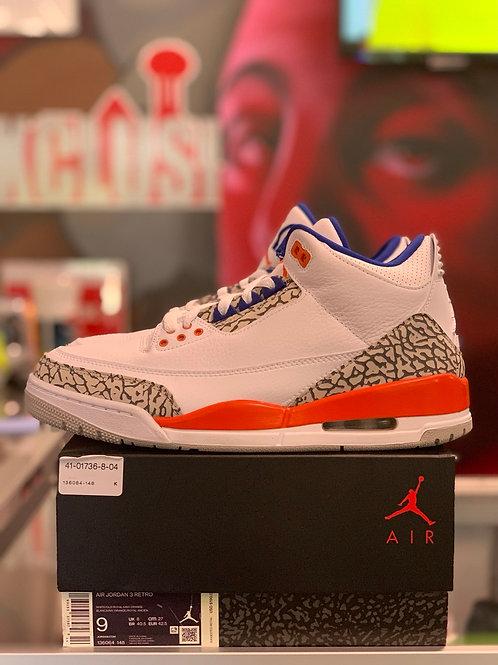 """Air Jordan 3 Retro """"Knicks """""""