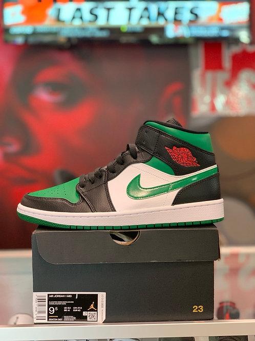 """Air Jordan 1 Mid """"Green Toe"""""""