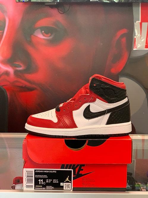 "Air Jordan 1 Retro ""Chicago Snake Satin"" (PS)"