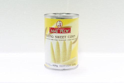 CN0012 Young Sweetcorn in Water - ข้าวโพดหวานกระป๋อง (罐头小玉米)