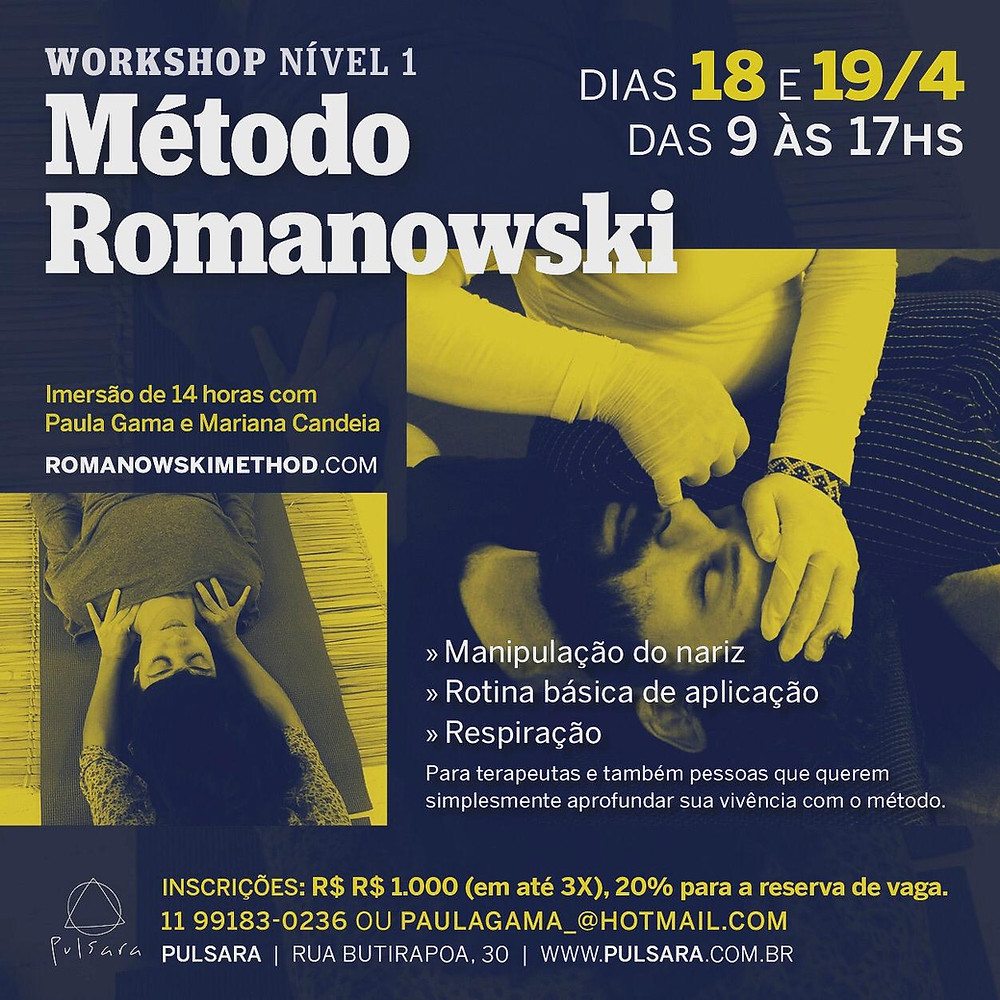 Workshop Nível 1 de Método Romanowski