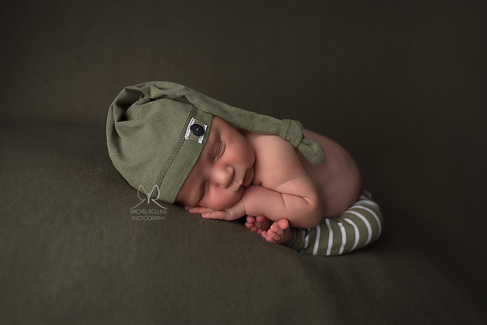 Baby picture by Grand Rapids newborn Photographer Rachel Rollins