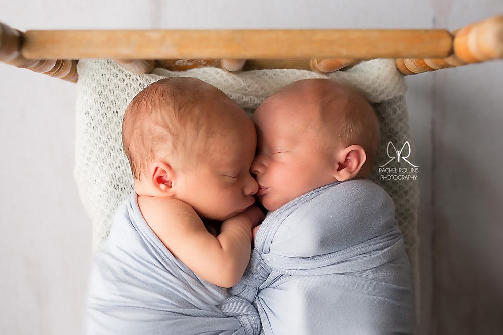 Picture of baby boy twins by Grand Rapids Newborn Photographer Rachel Rollins