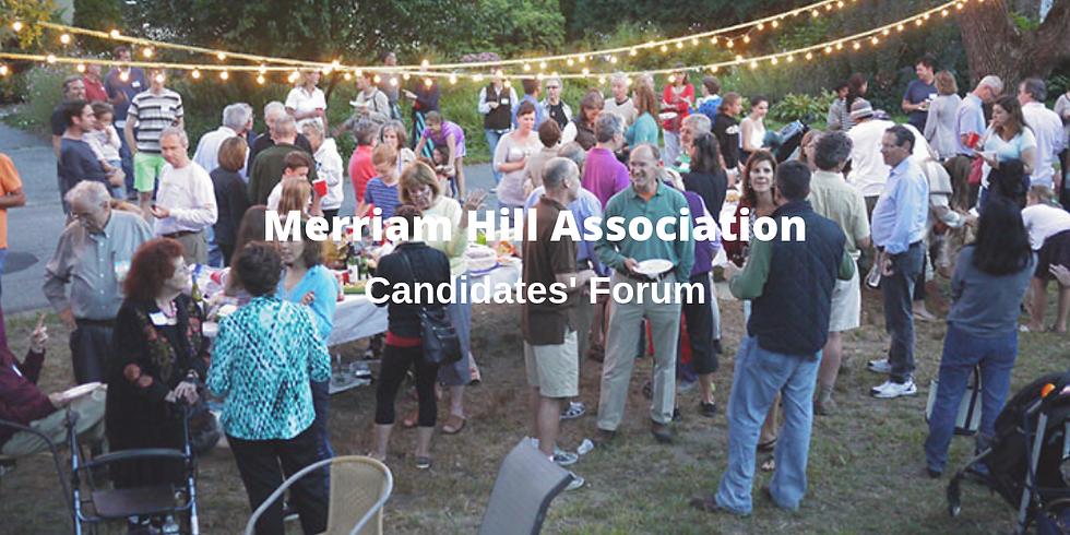Merriam Hill Association Candidates' Forum
