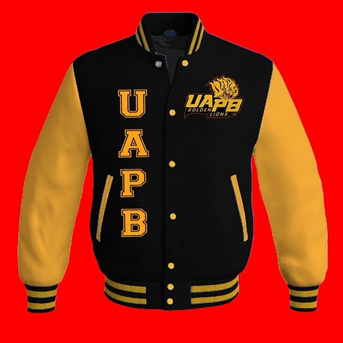 UAPB WOOL/LEATHER VARSITY JACKET