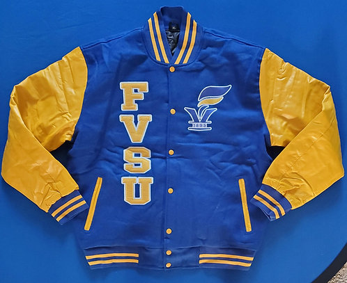 FVSU WOOL/LEATHER VARSITY JACKET