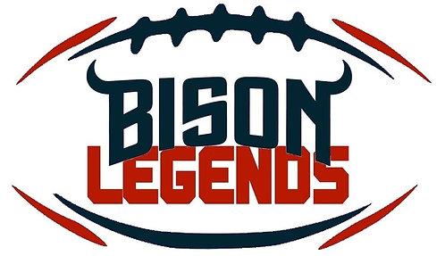 BISON FOOTBALL LEGENDS 500 Logo T-Shirt