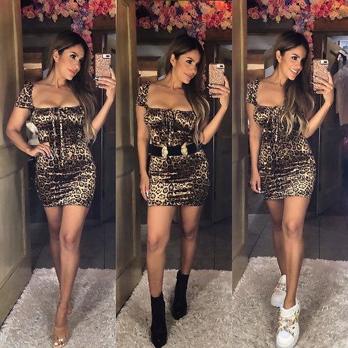 Cheetah Mini Dress