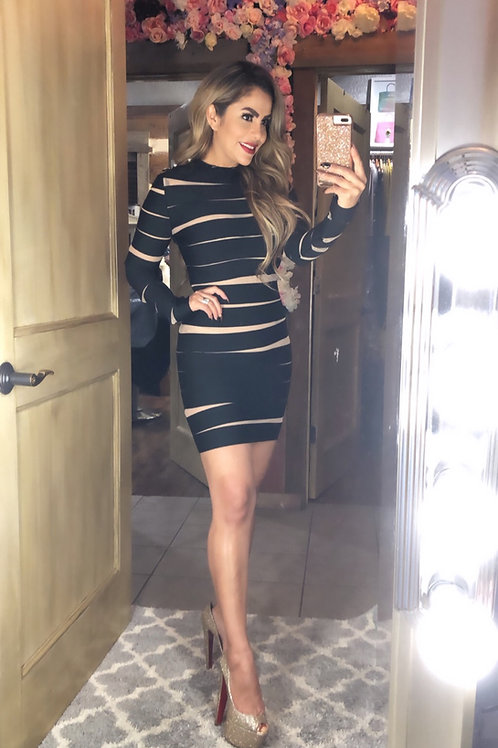 Black Sexy Wrap Dress