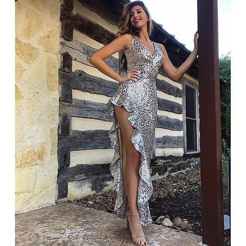 Silver Cascade Gown