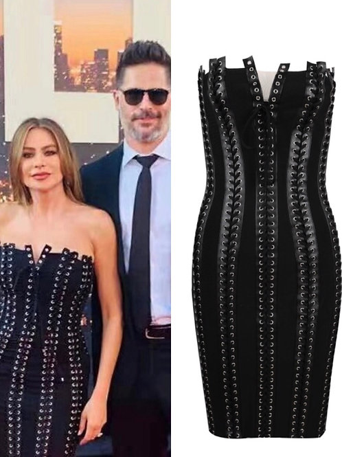 Sophia Vergara's Lace Up Dress