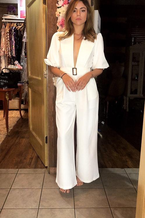 NY white jumpsuit